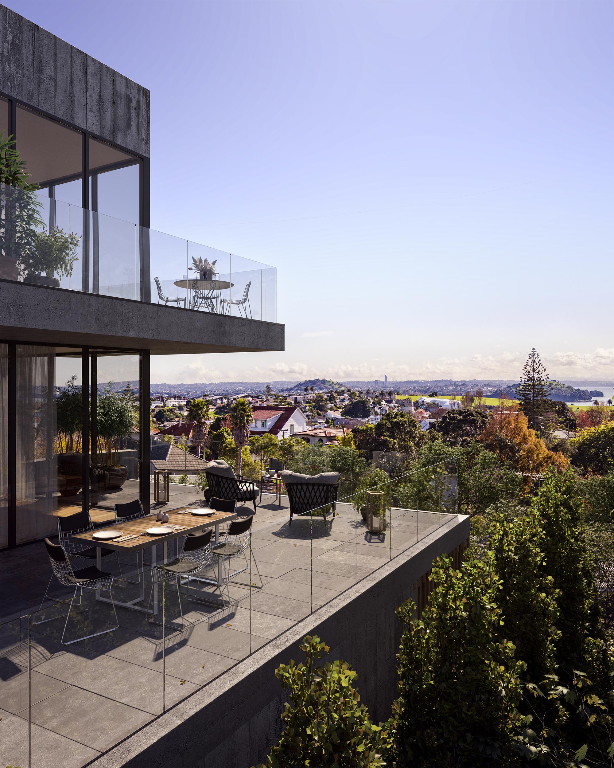 Horizon apartment balcony