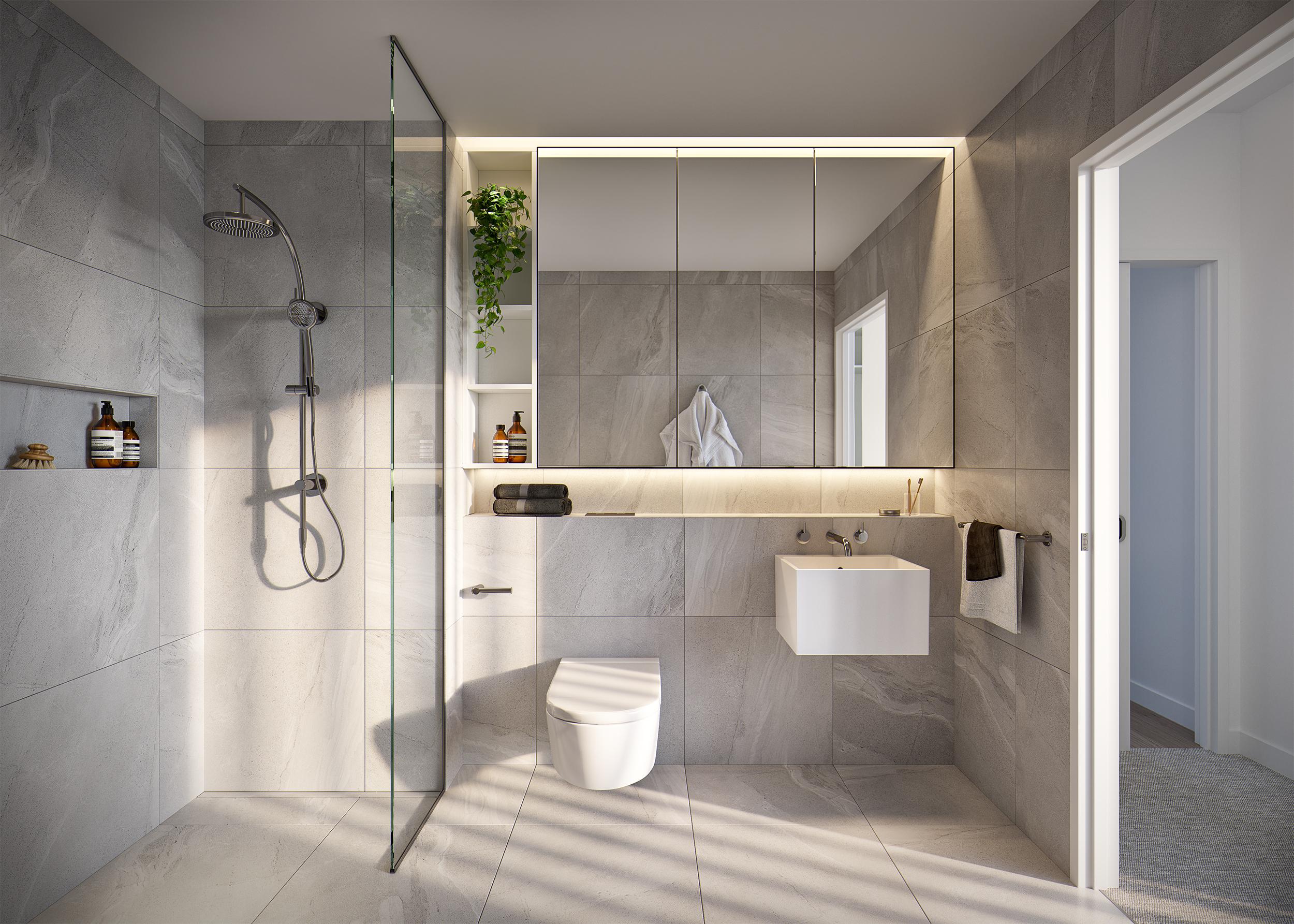 Horizon apartment bathroom