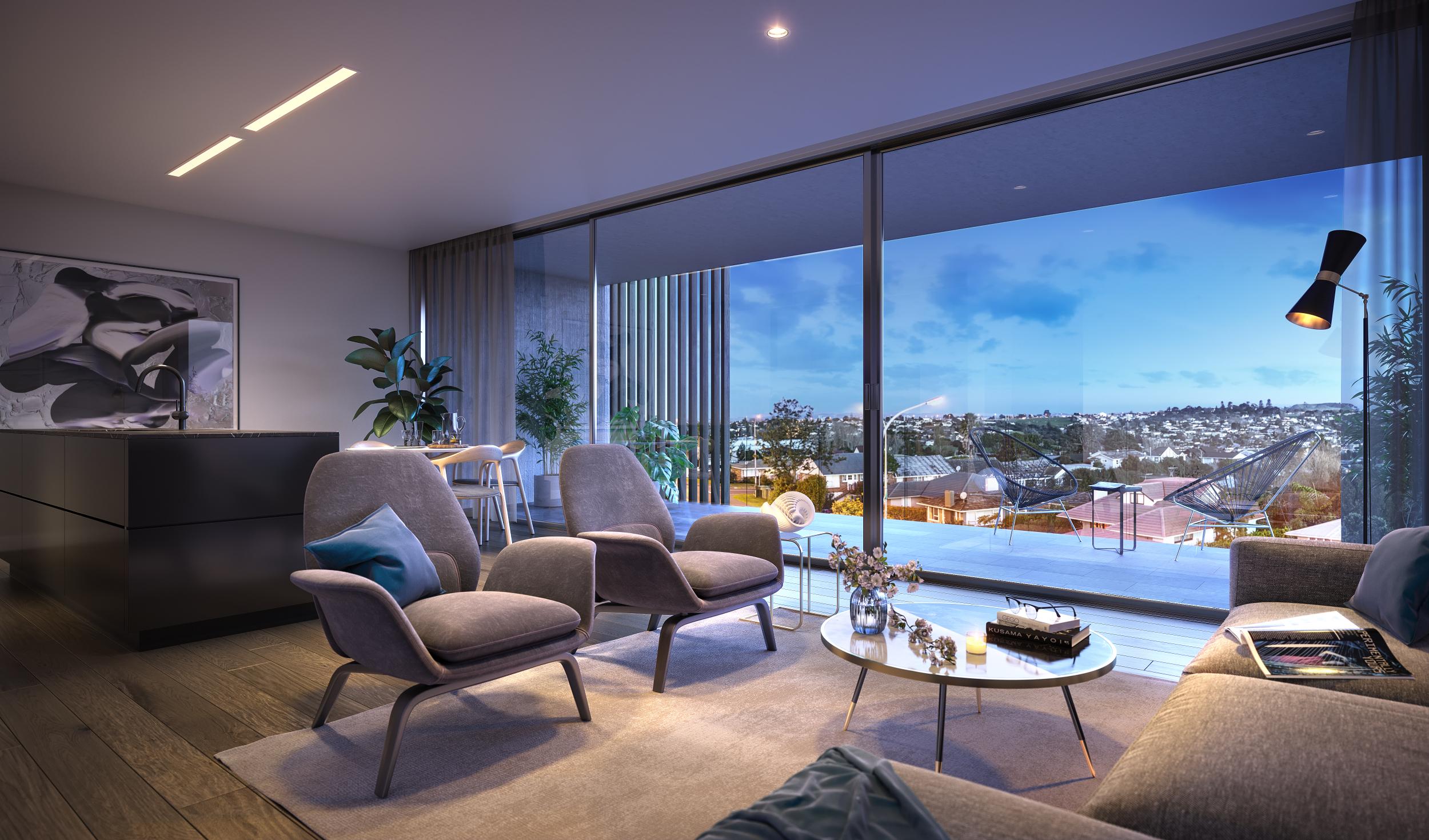 Horizon apartment living room